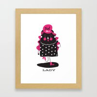 Be That Lady Framed Art Print