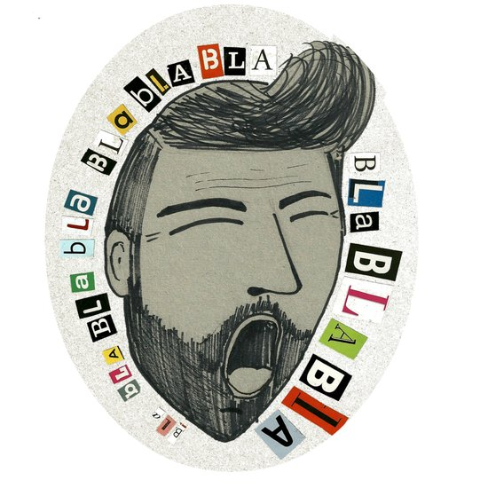 Bla bla bla... Art Print