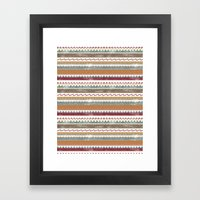 AZTEC STRIPES Framed Art Print