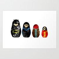 Russian Dolls In Gotham Art Print