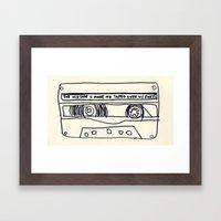 cassette schmassette Framed Art Print