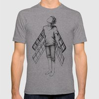 Boy Draws Wings Mk-II Mens Fitted Tee Athletic Grey SMALL