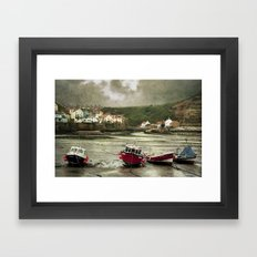 Staithes From The Harbour. Framed Art Print