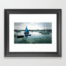 boats on the water Framed Art Print