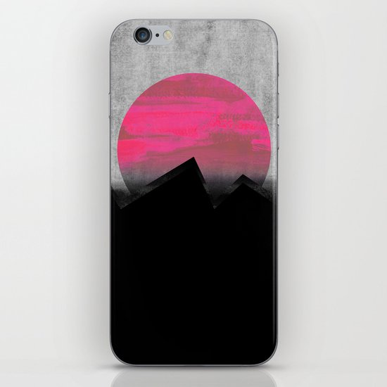 Pink Sun iPhone & iPod Skin