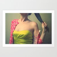 Off With Her Head! Art Print