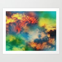 Cosmic Clouds Art Print
