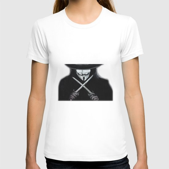 V for Vendetta  (by Esin )5 T-shirt