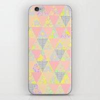 PASTEL NEON GEO FLORALS iPhone & iPod Skin