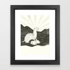 Smooth Coated River Otter Framed Art Print