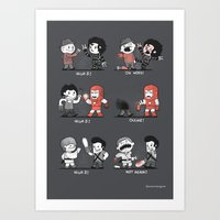 Some people shouldn't high five! Art Print