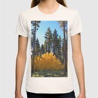 Fall Foliage Womens Fitted Tee Natural SMALL
