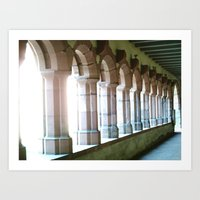 Worms abbey. Art Print