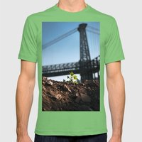 A Tree Grows In Brooklyn Mens Fitted Tee Grass SMALL