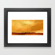 Dreaming of the sea  Framed Art Print