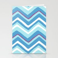 Hand Drawn Chevron Stationery Cards