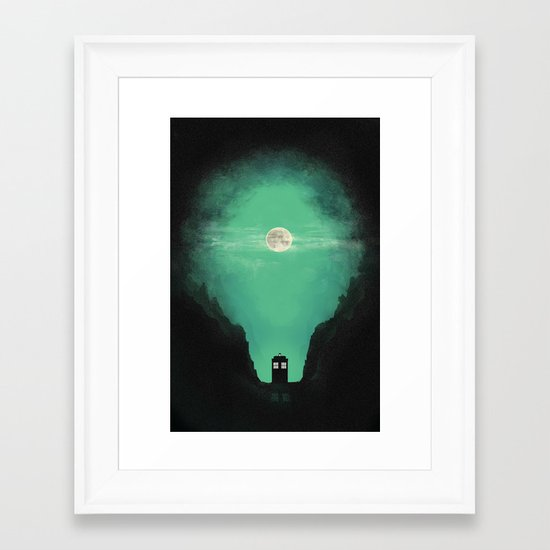 Spacey-Timey Framed Art Print