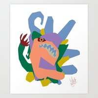Art Print featuring Creature 2 by David Nuh Omar
