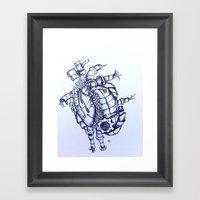 You Make My Heart Punk Framed Art Print
