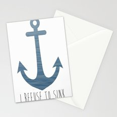 I Refuse to sink. Stationery Cards