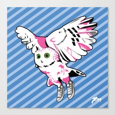 Owl w/ sneakers Canvas Print