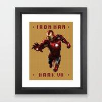 Iron Man MK VII Framed Art Print