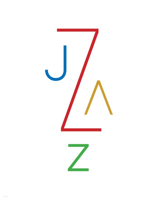 Jazz on White Art Print