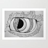 Eye in Eye Art Print