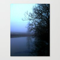 Canvas Print featuring By the lake. by Love_in_her_eye