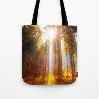 Sunshine forest Tote Bag