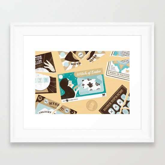 The Witch of Endor (by Zara Picken) Framed Art Print
