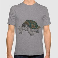Tortoise Mens Fitted Tee Athletic Grey SMALL