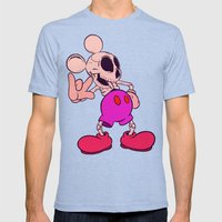 Mouse Skeleton Mens Fitted Tee Tri-Blue SMALL
