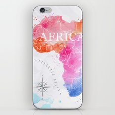 Africa Map In Colors iPhone & iPod Skin