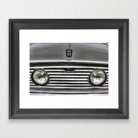 The Mini Classic Car Framed Art Print