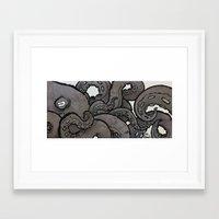 Framed Art Print featuring Octopus by boy Roland