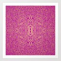 Radiate (Yellow/Ochre Raspberry) Art Print