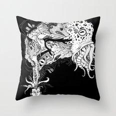 H.P. Monsters Black Tee version Throw Pillow