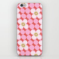 Dotty Flowers iPhone & iPod Skin