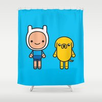 #48 Jake and Finn Shower Curtain