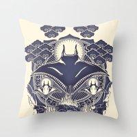Mantra Ray Throw Pillow