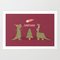 Merry Extinction  Art Print