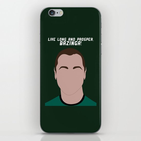 Live Long and Prosper, Bazinga! iPhone & iPod Skin