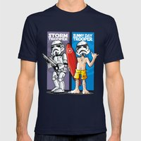 Storm And Sunny Day Troo… Mens Fitted Tee Navy SMALL