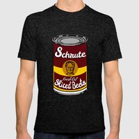 Schrute Fresh Cut Sliced Beets     Dwight Schrute     The Office Mens Fitted Tee Tri-Black SMALL
