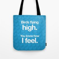 Birds Flying High. Tote Bag