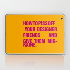 How to piss off your designer friends and give them migraine. Laptop & iPad Skin