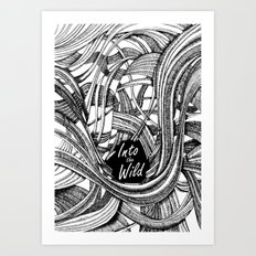 Into The Wild (b&w version) Art Print