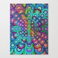 Multicolor Dots Pyramid Canvas Print