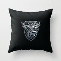 Winterfell DireWolves Throw Pillow